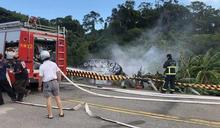 戰車翻覆釀1死1傷 殉職中士母親聞噩耗赴機場前往金門