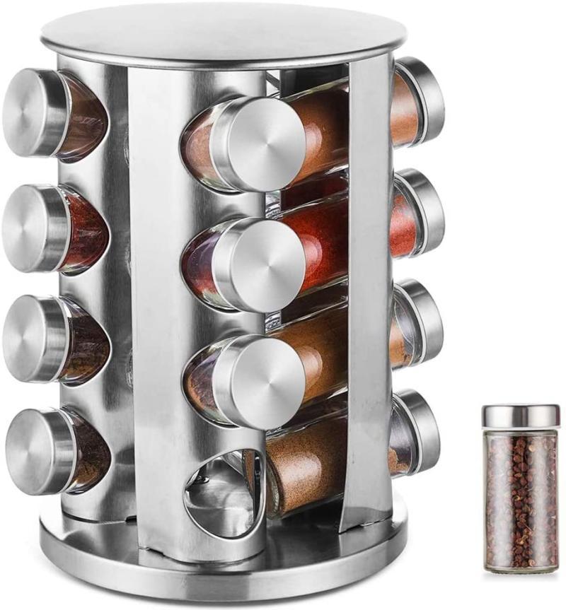 DEFWAY Revolving Spice Rack (Photo via Amazon)