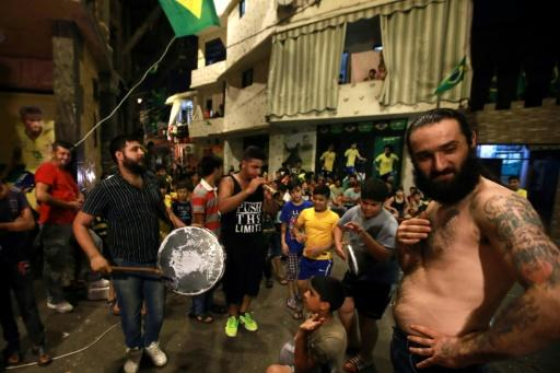 Brazil are popular in Lebanese capital Beirut