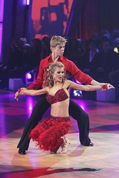 "JoAnne Krupa and Derek Hough perform on ""Dancing with the Stars."""