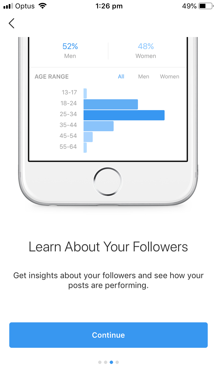 Setting up the account which provides analytics views is as easy as a few clicks. Photo: Supplied