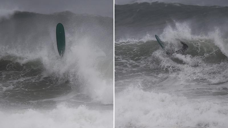 A picture of huge waves as big swells are forecast for the NSW coast this week. Source: AAP.