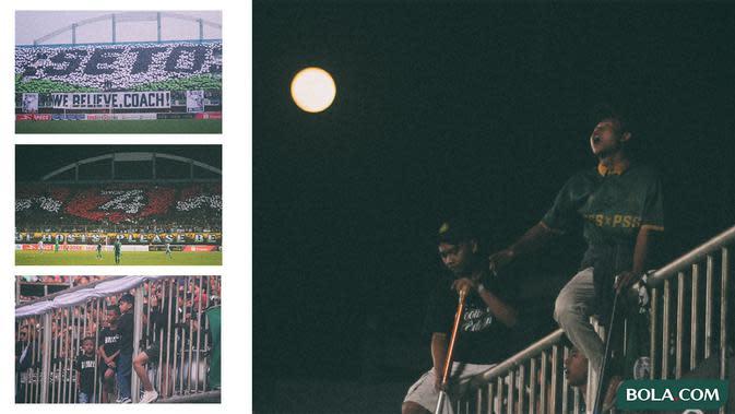 Kolase - Kisah Menarik BCS, Ultras yang Menjadi Nyawa PSS (Bola.com/Adreanus Titus/Foto: Aryo Atmaja)