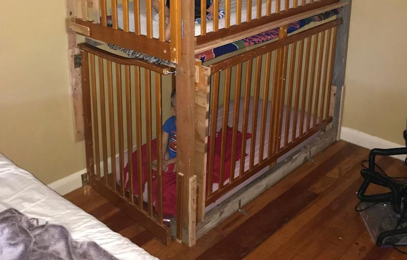 Authorities found two boys in cages in a home at Tulelake, Northern California.