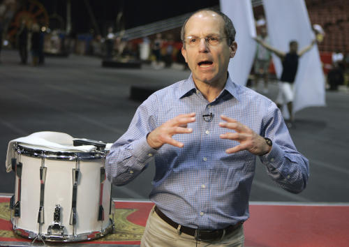 FILE - In this Dec. 22, 2007, file photo, Kenneth Feld, CEO of Feld Entertainment, gestures during an interview at the Florida State Fairgrounds in Tampa, Fla. The companty which produces the Ringling Bros. and Barnum & Bailey circus, along with a host of other live shows such as Disney on Ice, is announcing a partnership Wednesday, March 13, 2013, with Marvel Entertainment to produce a live arena show featuring the Marvel universe of characters. Exact financial terms of the deal were not disclosed, but Feld said he expects the show to open in July 2014, and tour arenas domestically and internationally, as the company's other shows do. (AP Photo/Chris O'Meara, File)