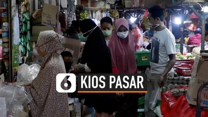 VIDEO: Cegah Covid-19 Kios Pasar Bakal Diberlakukan Ganjil Genap