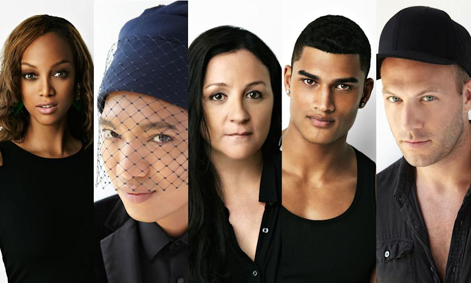Tyra Banks, Bryanboy, Kelly Cutrone, Rob Evans and Jonnny Wujeck