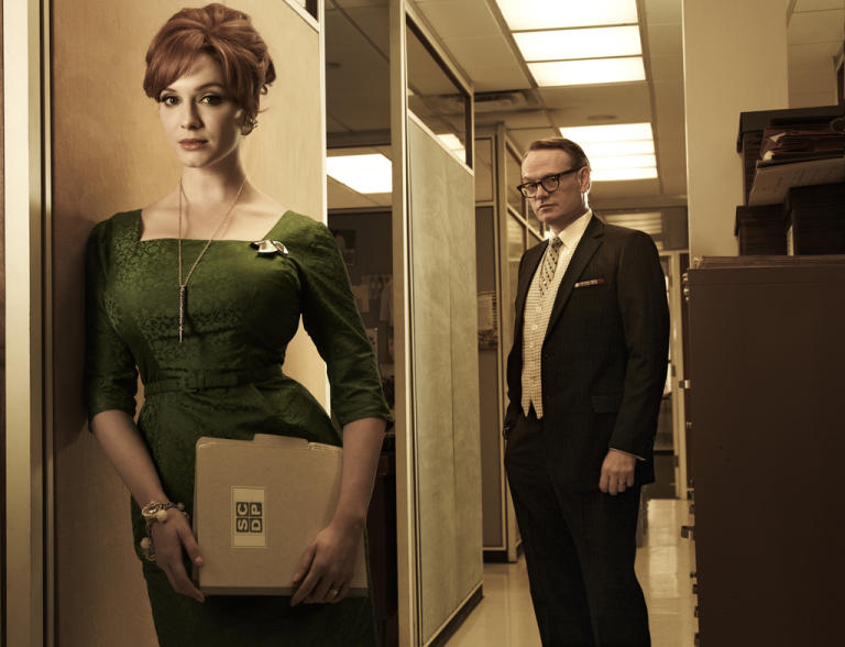 Christina Hendricks and Jared Harris