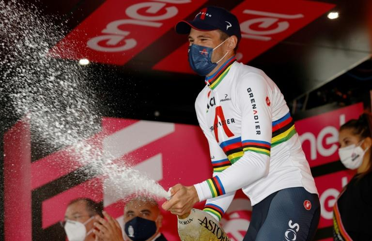Ganna claims third Giro stage win, Almeida extends race lead