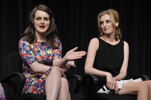 "FILE - In this Aug. 6, 2013 file photo, Sophie McShera, left, and Laura Carmichael, cast members in the Masterpiece series ""Downton Abbey,"" take part in a panel discussion on the show at the PBS Summer 2013 TCA press tour in Beverly Hills, Calif. (Photo by Chris Pizzello/Invision/AP, File)"