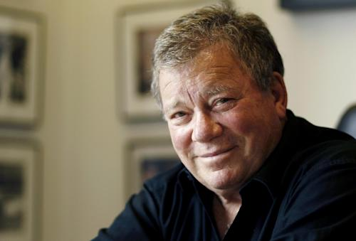 "FILE - This Jan. 30, 2012 file photo shows actor William Shatner in Los Angeles. Shatner will guest star in a live episode of ""Hot in Cleveland,"" on Wednesday, June 19, 2013 airing on the TV Land channel. (AP Photo/Matt Sayles, file)"