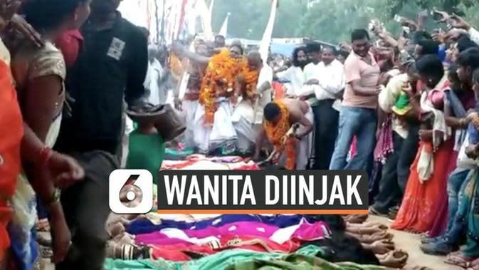 VIDEO: Demi Bisa Hamil, Wanita India Rela Diinjak-Injak Pria