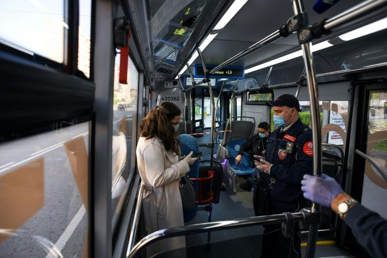 City authorities have made it mandatory to wear gloves and masks on public transport