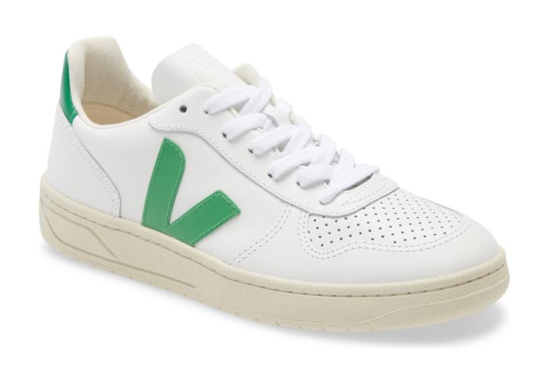 Veja Women's V-10 Sneaker in Extra White Leaf