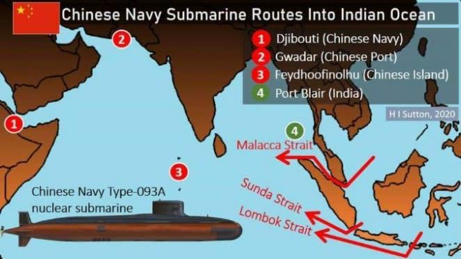 VIVA Militer : Rute Kapal Selam China di Indonesia