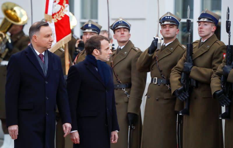 French President Macron visits Poland