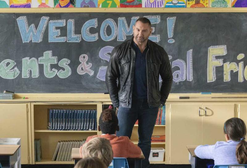 JJ Cena (Dave Bautisa) in My Spy. (PHOTO: Golden Village Pictures)