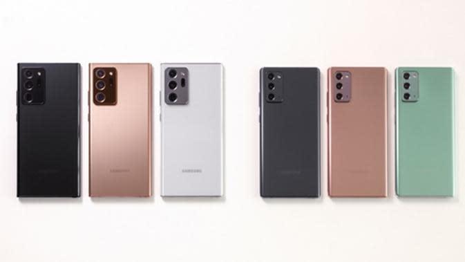 Samsung Galaxy Note20 dan Galaxy Note20 Ultra.