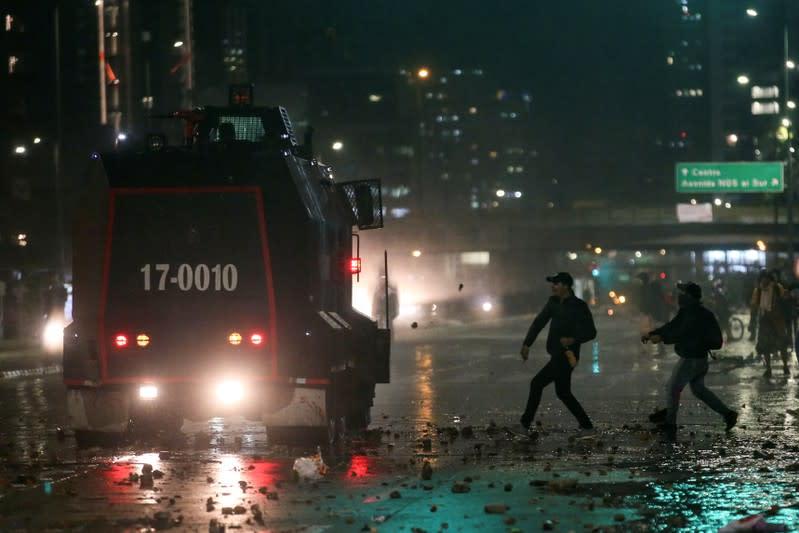 Protest for a national strike in Bogota