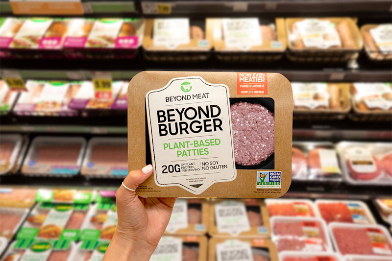 Beyond Meat's new burger. Source: Beyond Meat