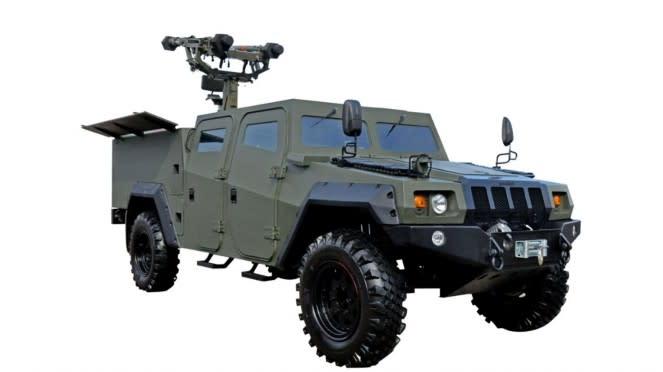 VIVA Militer: Kendaraan Khusus Komodo 4x4 Missile Launcher
