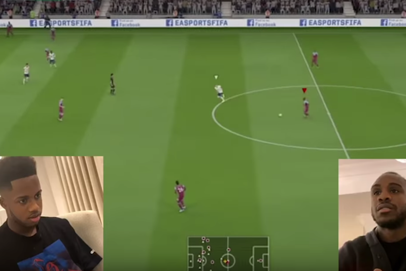 Ryan Sessegnon and Michail Antonio played out Tottenham vs West Ham on FIFA 20 Photo: YouTube/Tottenham Hotspur