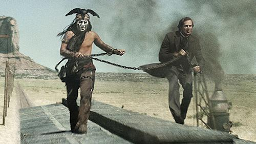 Exclusive 'Lone Ranger' Clip Reveals Maked Man and Tonto Not Always BFFs