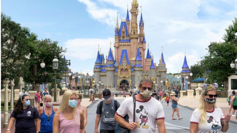 Disney World dibuka dengan kapasitas terbatas pada 11 Juli.