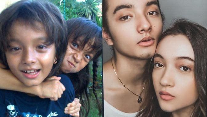6 Potret Transformasi Adik Kakak Seleb saat Kecil Vs Kini, Kompak Sedari Dulu (sumber: FB Megan Domani Dan Bryan Domani dan Instagram.com/megandomani410)
