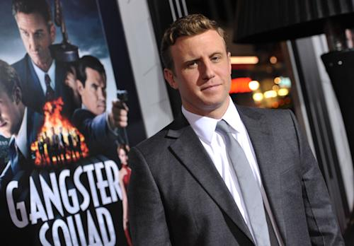 "FILE - In this Monday, Jan. 7, 2013 photo, director Ruben Fleischer attends the LA premiere of ""Gangster Squad"" at Grauman's Chinese Theater, in Los Angeles. Fleischer was stepping out of the shower at his Los Angeles home on the night of July 20 last year when he received a chilling phone call from a studio executive at Warner Bros. There had been a deadly shooting at a midnight screening of ""The Dark Knight Rises"" in Colorado, and the studio was pulling the trailer for ""Gangster Squad."" (Photo by John Shearer/Invision/AP, File)"