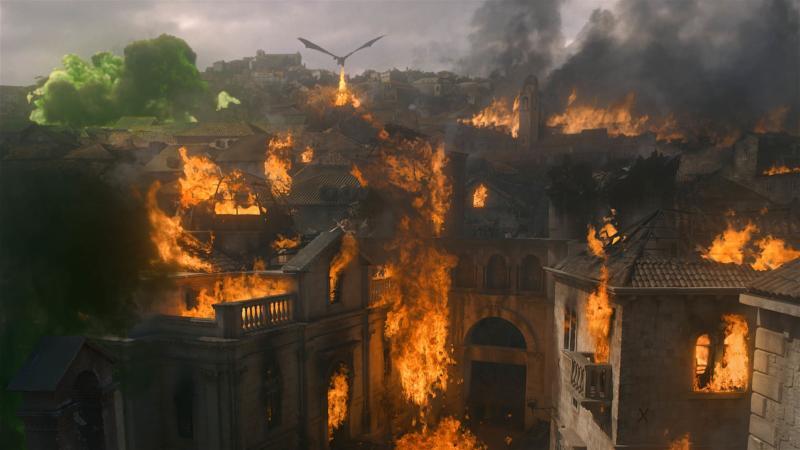 Drogon detroys King's Landing in Game of Thrones season 8 episode 5