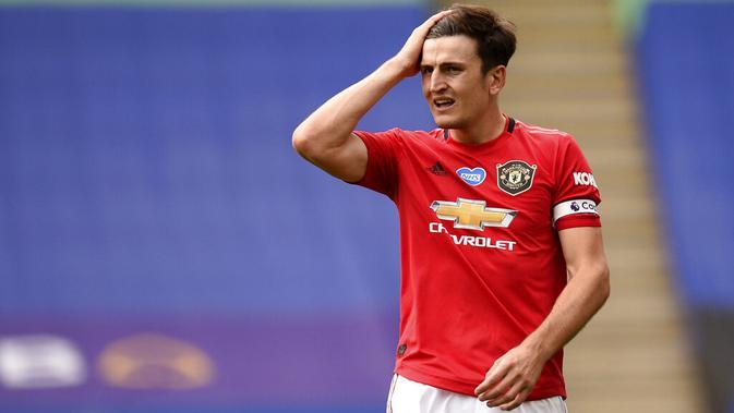 Bek Manchester United, Harry Maguire (Oli Scarff/Pool via AP)