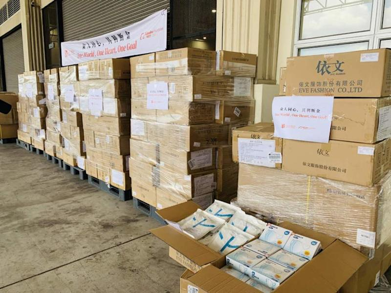 Boxes of donated medical equipment from the Jack Ma Foundation and Alibaba Foundation. — Picture via Facebook/China Embassy in Malaysia