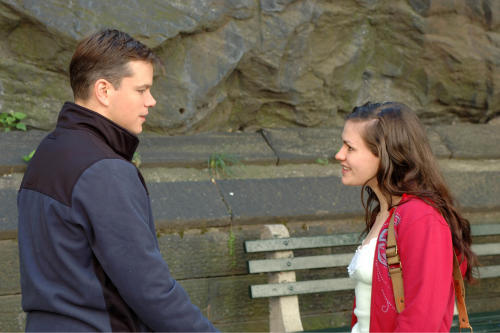 """In this film image released by Fox Searchlight Films, Matt Damon, left, and Anna Paquin are shown in a scene from """"Margaret."""" (AP Photo/Fox Searchlight Films, Myles Aronowitz)"""