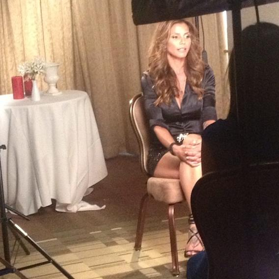 Sitting down with OMG Insider to talk about#SurvivingEvil. Can't wait for you all to see the show!