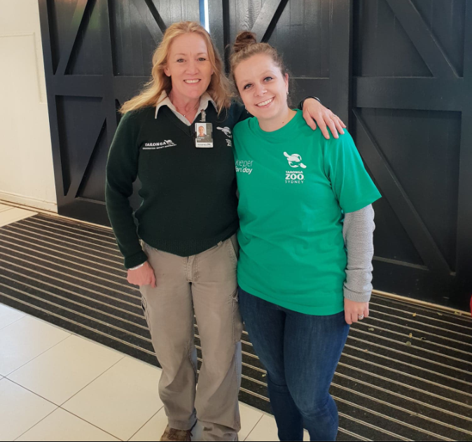 Taronga Zoo Keeper for a Day host Lesley Small