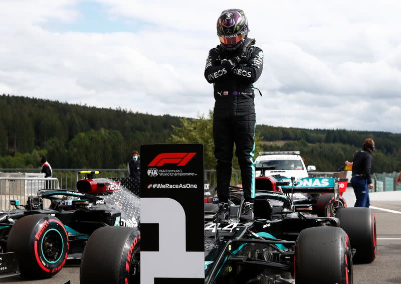 Motor racing: Emotional Hamilton storms to inspired Belgian pole