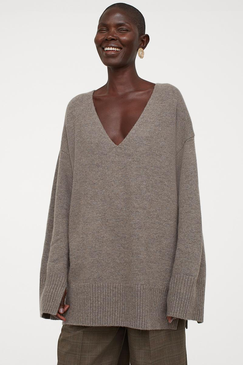 Oversized Wool-blend Sweater. Image via H&M.