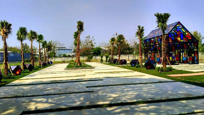 Taman Mozaik di Surabaya, Jawa Timur. (Foto: Liputan6.com/Dian Kurniawan)