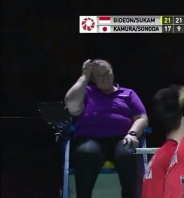 Susan Taylor, Umpire BWF yang Pensiun Diiringi Poin dari Kevin Sanjaya