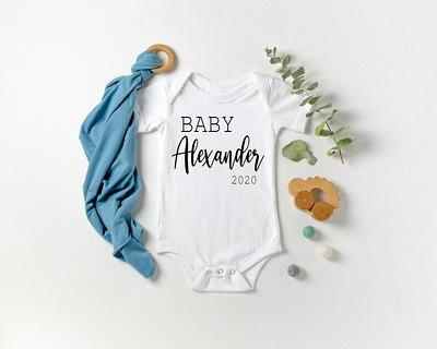 BABY BOY BodysuitPersonalized GiftNewborn BoyComing Home OutfitBaby Shower GiftPersonalized Shower GiftComing Home Outfit Boy