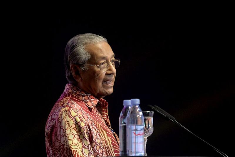Prime Minister Tun Dr Mahathir Mohamad delivers his speech at the 'My Voice, My Nation' event in Kuala Lumpur June 26, 2019. — Picture by Mukhriz Hazim