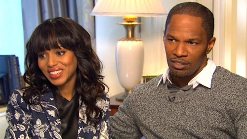 Kerry Washington and Jamie Foxx chat with Access Hollywood on December 17, 2012 -- Access Hollywood