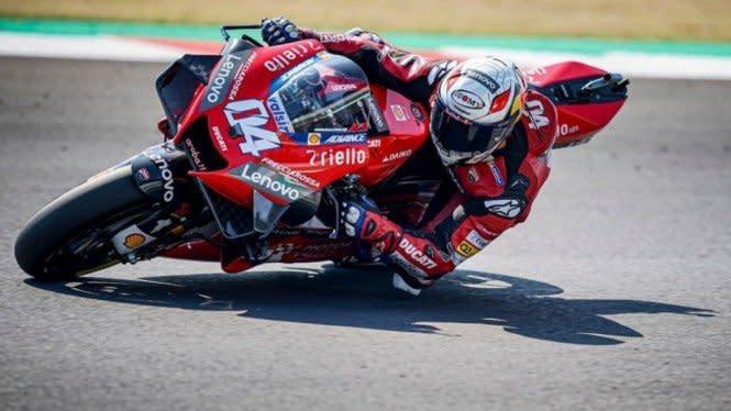 Sengit, 2 Pembalap Sudah Crash di Lap 1 MotoGP Catalunya