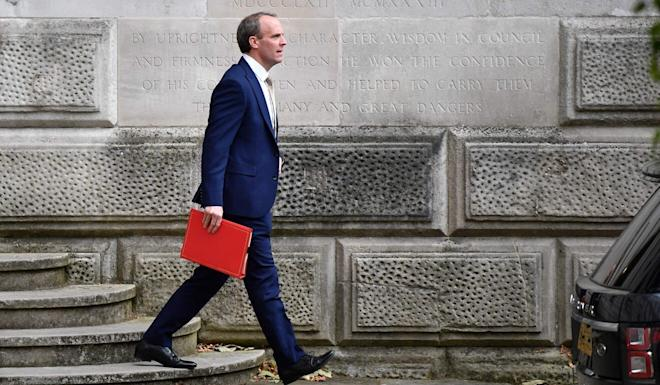 "Foreign Secretary Dominic Raab says the security law is a ""clear and serious breach"" of the Joint Declaration. Photo: AFP"