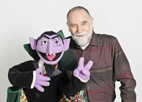 "In this June 2012 publicity photo released by ""Sesame Street,"" puppeteer Jerry Nelson is shown with ""Sesame Street"" character Count von Count in New York. Sesame Workshop announced that Nelson, who suffered from emphysema, died at age 78 on Thursday, Aug. 23, 2012, in his Massachusetts home on Cape Cod. (AP Photo/Sesame Workshop, Gil Vaknin)"