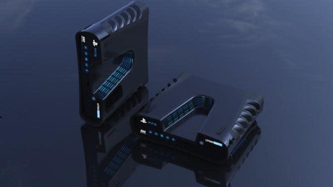 Foto render konsol PS5 yang muncul di internet. (Doc: LetsGoDigital)
