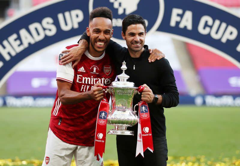 Arteta 'optimistic' Aubameyang will extend Arsenal stay