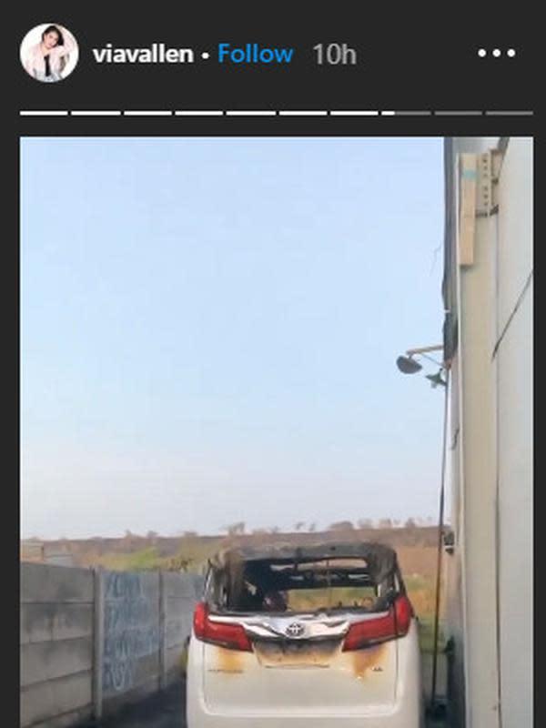 Pelaku Pembakaran Mobil Via Vallen Sudah Diamankan Polisi. (Sumber: Instagram.com/viavallen)
