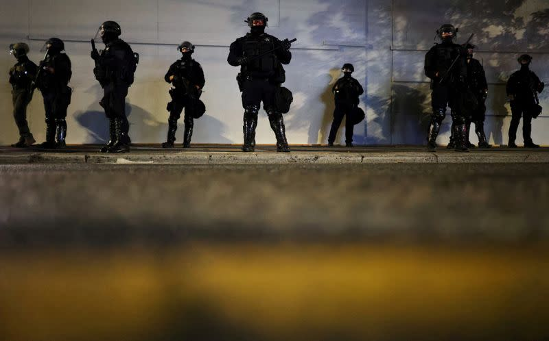 Portland police arrest 27 as U.S. city nears 100 days of protests